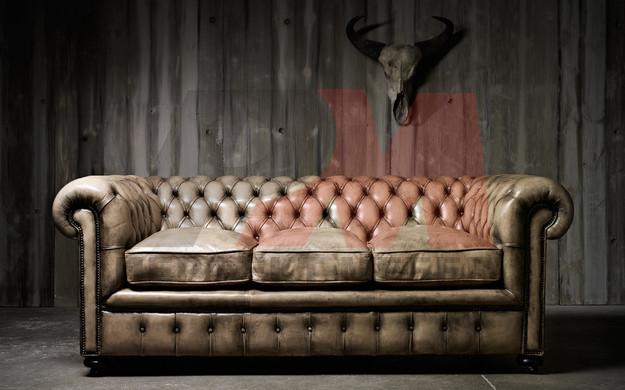 кожена мека мебел честърфийлд авторитетна