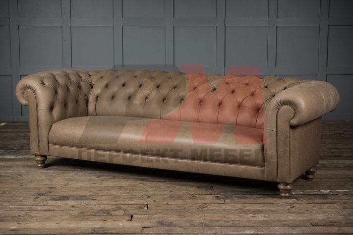 кожена мека мебел честърфийлд класна