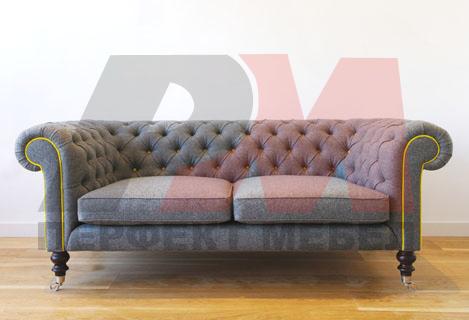 качествена  кожена мека мебел честърфийлд