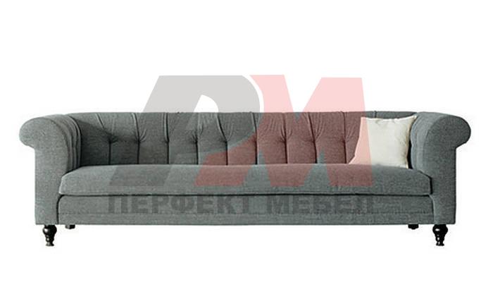 надеждна   кожена мека мебел честърфийлд