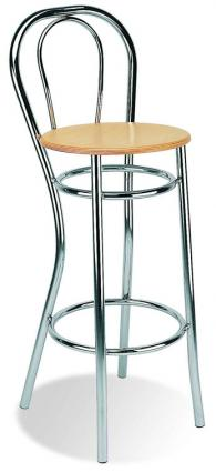 Бар стол ADRIA hocker wood chrome