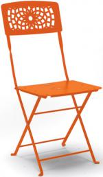 Метален стол оранжев