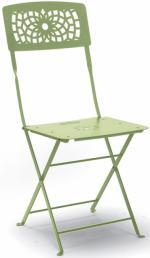 Метален стол светло зелен