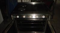 Печка с два котлона и две плочи