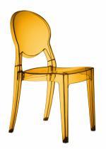 Прозрачен дизайнерски стол оранжев